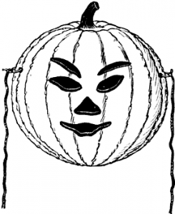 Did you ever notice how weird Jack O'Lanterns look with eyebrows?