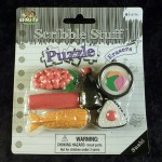 sushi eraser set texture stamps