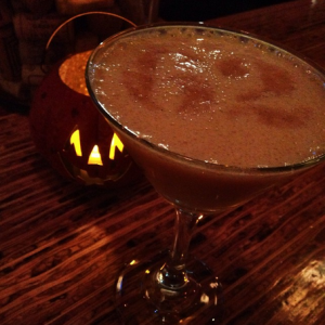 Why is that pumpkin so happy to be around a pumpkin-based drink?