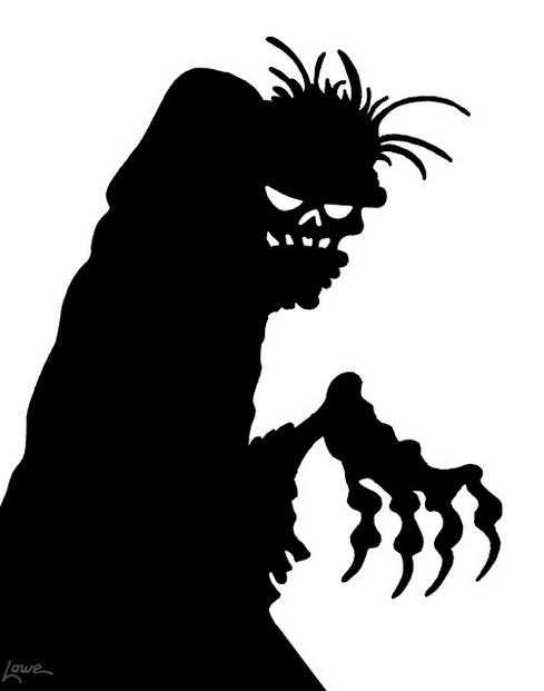 gravedigger silhouette